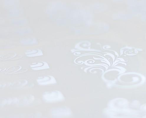 Etichette adesive in fogli argento