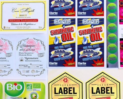 Etichette stickers e cartellini